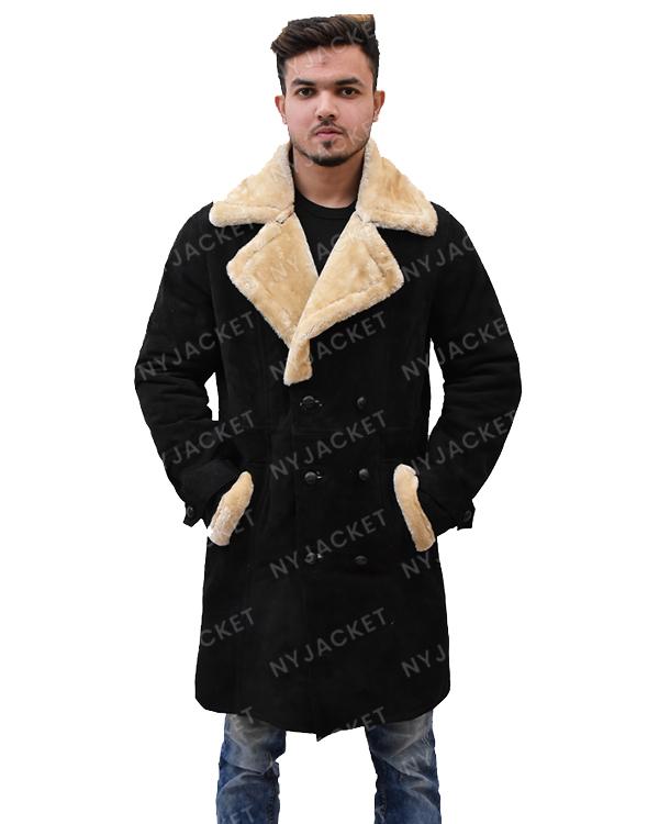 Mens Black Velvet Ivory Coat