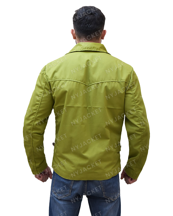 Mens Green Cotton Jacket
