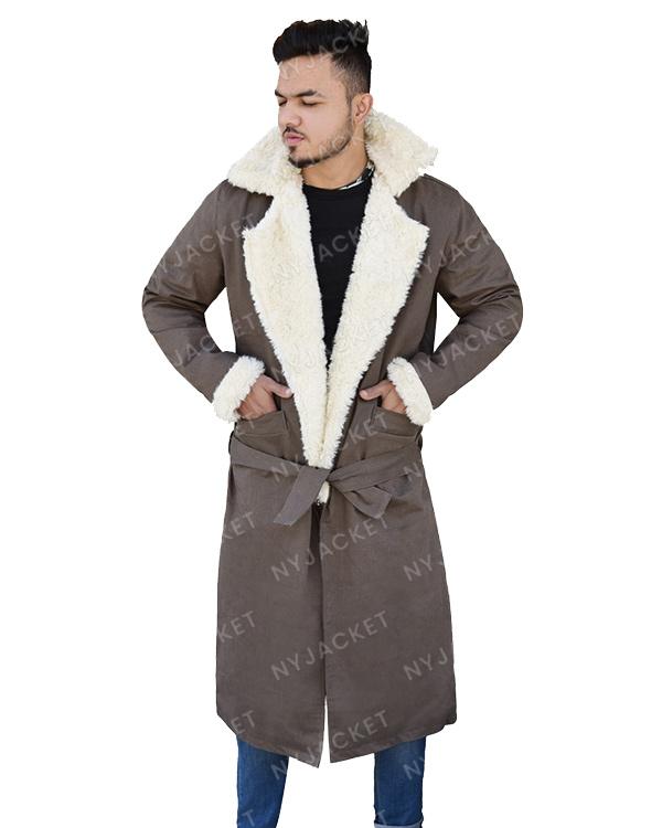 Mens Fur Collar Cotton Coat