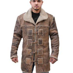 Mens Shearling Brown Coat