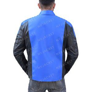 Mens Slimfit Cafe Racer Style Leather Jacket