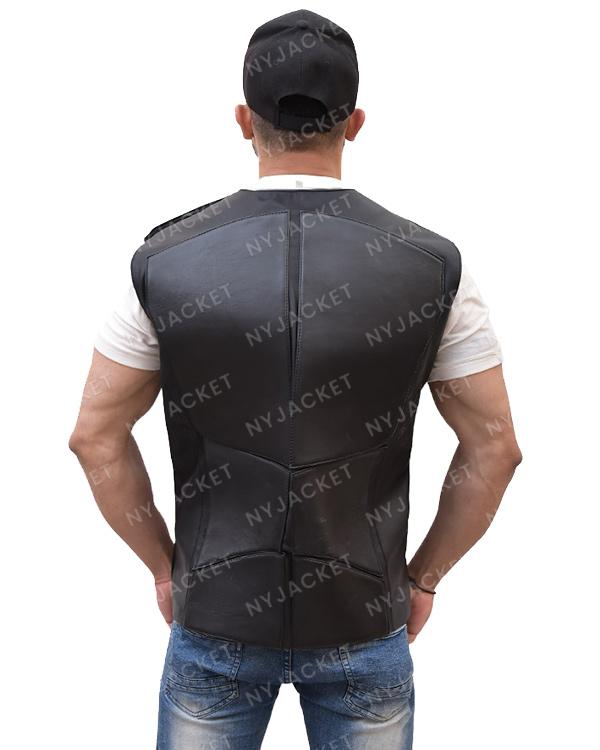 Mens Slimfit Black And Grey Vest