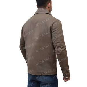 Mens Turn Down Collar Leather Jacket