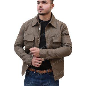 Mens Turn Down Collar Jacket