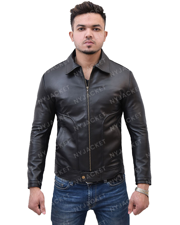 Mens Turn Down Collar Slimfit Jacket