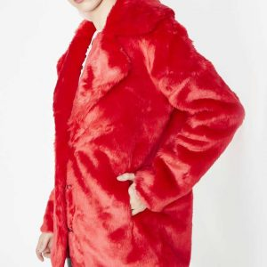 8-Ball-Faux-Fur-Red-Jacket