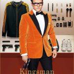 Eggsy-Taron-Egerton-Orange-Tuxedo-Jacket