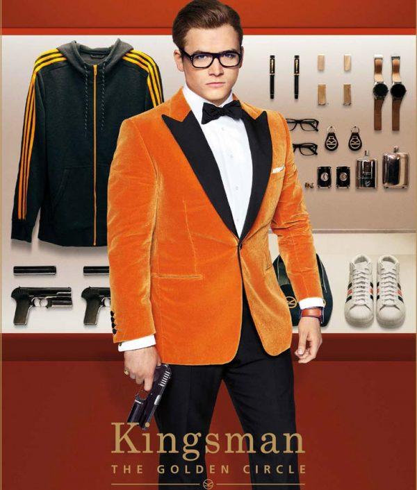 Kingsman-The-Golden-Circle-Orange-Dinner-Tuxedo-Jacket-1
