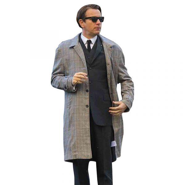 Halston 2021 Ewan McGregor Checkered Coat