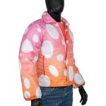 Justin Bieber Peaches Puffer Pink Jacket