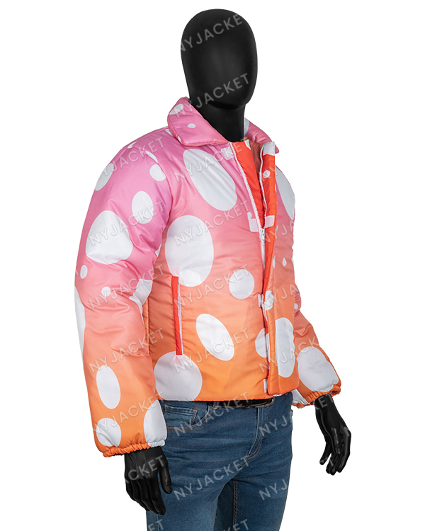 Justin Bieber Peaches Puffer Pink Jacket - Copy