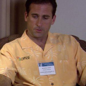 Microsoft-Office-Hawaiian-half-sleeves-Shirt