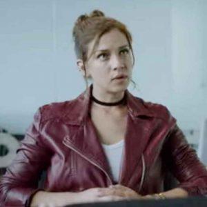 Who-Killed-Sara-2021-Elisa-Maroon-Leather-Jacket