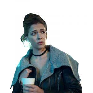 Who Killed Sara Elisa Black Leather Jacket
