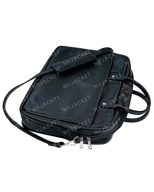 Black Leather amazing Laptop Bag