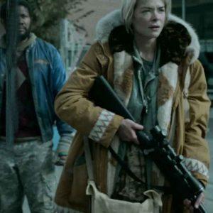 Jaime-King-Black-Summer-Season-02-Rose-Brown-Parka-Jacket