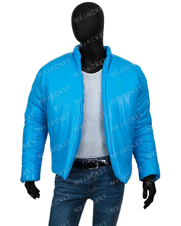 Kanye West Yeezy Blue Puffer Jacket