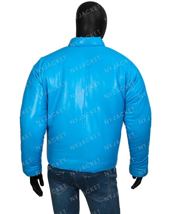 Kanye West Yeezy Round Blue Puffer Jacket