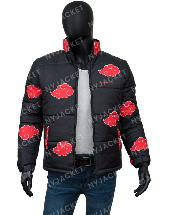 Naruto Akatsuki Puffer Black Jacket