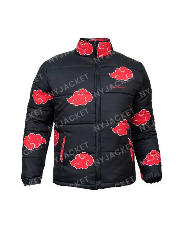 Naruto Akatsuki Puffer Black And Red Jacket