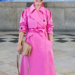 Women's Bright Hot Trench Coat