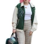 Anne Marie Our Song 2021 Green & White Cotton Jacket