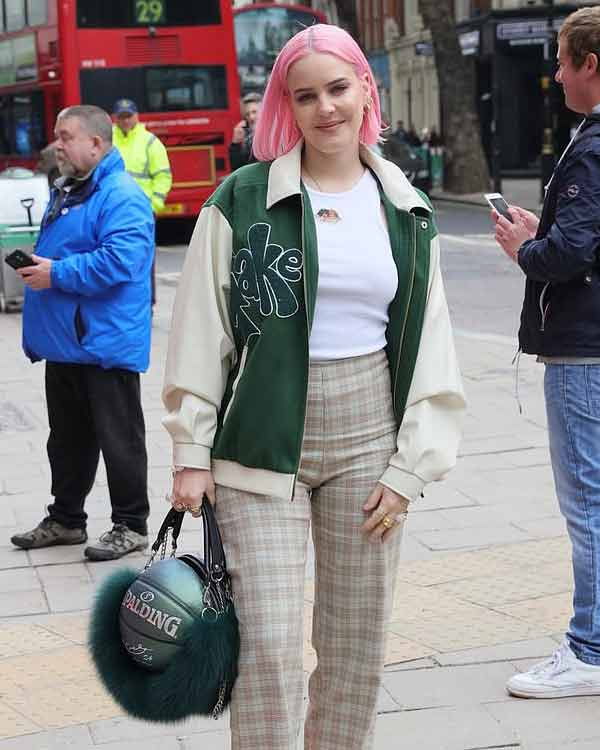 Anne-Marie-Our-Song-Green-Bomber-Jacket