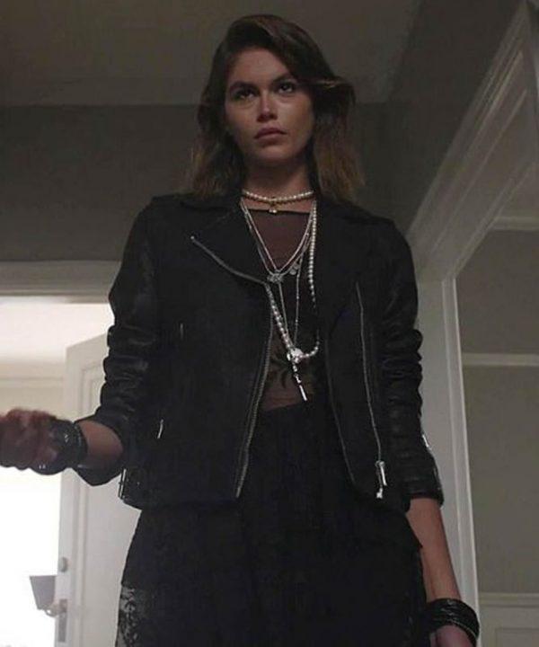 Kaia-Gerber-American-Horror-Stories-2021-Black-Leather-Jacket-667x800