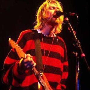 Kurt Cobain Red And Black StripeClassy Sweater