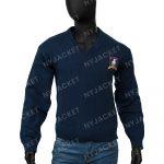 Ted Lasso Jason Sudeikis Blue Sweater