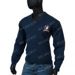 Ted Lasso S02 Jason Sudeikis Blue Woolen Sweater For Men