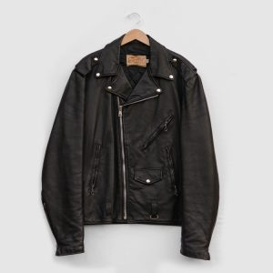 Vintage-Mens-Excelled-Black-Leather-Motorcycle-Jacket-Made-in-USA-4
