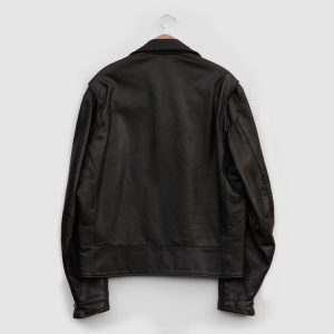 Vintage-Mens-Excelled-Black-Leather-Motorcycle-Jacket-Made-in-USA-1