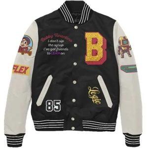 Bobby Tarantino Varsity Black And White Jacket