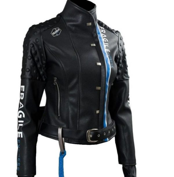 Death Stranding Fragile Express Léa Seydoux Black Leather Jacket