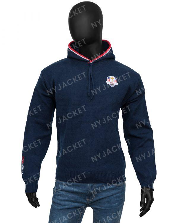 RyderCup HoodedBlue Sweater