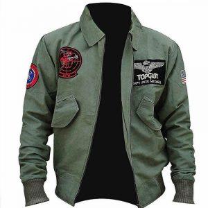 TomCruise Flight Bomber Top Gun Maverick Jacket