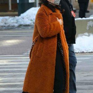 only-murders-in-the-building-selena-gomez-brown-fur-coat