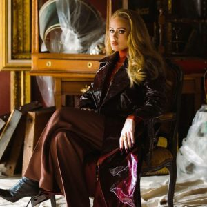 Adele-Easy-On-Me-Brown-Leather-Coat