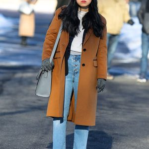 Awkwafina-is-Nora-From-Queens-Camel-Trench-Coat