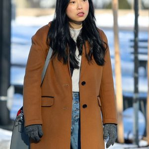 Awkwafina-is-Nora-From-Queens-Camel-Coat