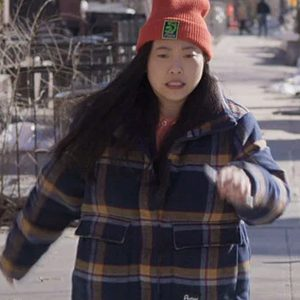 Awkwafina-is-Nora-From-Queens-Plaid-Jacket